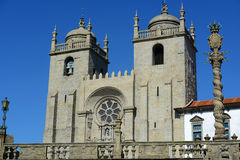 Manueline Pillory and Porto Catherdral, Portugal Royalty Free Stock Images