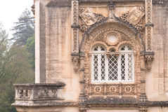 Manueline windows in Portugal Stock Photo