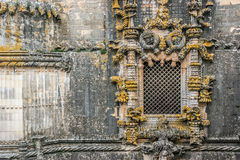 Manuelino window in the Convent of Christ, Tomar, in Portugal. Manuelino window in the Convent of Christ in Tomar, cultural monument that is included in the list Royalty Free Stock Photography