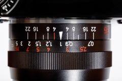Manuell fokus Lens för tappning för SLR enkla Lens reflexkamera Royaltyfri Foto