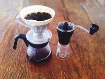 Manuell kaffebryggare Arkivfoton