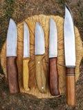 Manuellt gjorda knivar arkivbilder