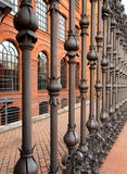 Manufactory fence. Royalty Free Stock Photos