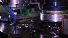 Bearing production. Assembly machine stock footage
