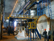 Manufacture of coke. Shop of manufacture of coke in Alchevsk, Ukraine stock photography