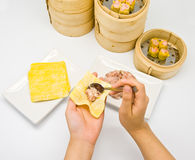 Manufacture of dim sum Stock Photos