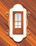 Manufacture of doors. Decorative label Royalty Free Stock Photography
