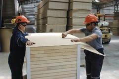 Manufacture of doors Stock Photo