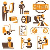 Manufacture and industry icons Royalty Free Stock Photos