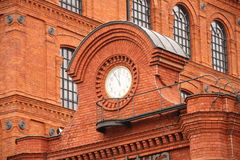 Manufacture in Lodz. Historic factory building style in Lodz, Poland Stock Photos