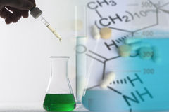 Manufacture of medical products. Concept of chemistry Stock Image
