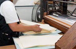 Manufacture Of Paper Stock Photo