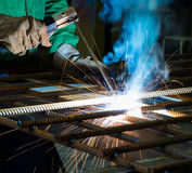 Manufacture of parts and machines Stock Images