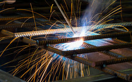 Manufacture of parts and machines Royalty Free Stock Images