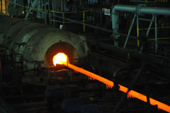 Manufacture of pipes Stock Photo