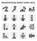 Manufacture robot icons Royalty Free Stock Photos