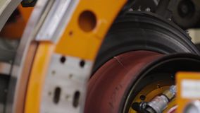 Manufacture of tires stock video
