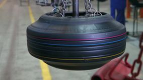 Manufacture of tires. stock footage