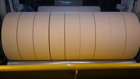 Manufacture of toilet paper and napkins stock video footage