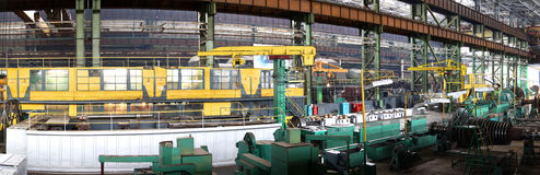 Manufacture of water turbines. The huge machine turbine producti Stock Image
