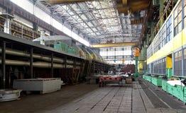 Manufacture of water turbines. The huge machine turbine producti Stock Photography