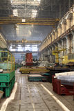 Manufacture of water turbines. The huge machine turbine production. Large parts of the plant. Stock Photo
