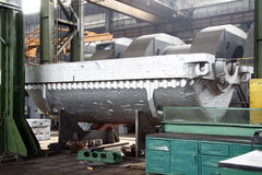Manufacture of water turbines. The huge machine turbine production. Large parts of the plant. Stock Photography