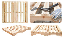 Manufacture of wooden platforms Royalty Free Stock Photo