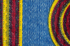 Manufactured African fabric (cotton) Royalty Free Stock Photography