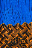 Manufactured African fabric (cotton) Royalty Free Stock Images