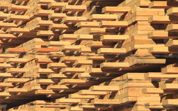Manufactured Lumber Neatly Stacked Stock Images