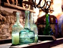 Production of moonshine. Manufacturer of home moonshine,vintage photo stock images