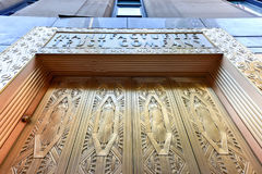 Manufacturers Hanover Trust Company Bank. New York City - June 14, 2017: Manufacturers Hanover Trust Company Bank former bronze door entrance in midtown Stock Photo
