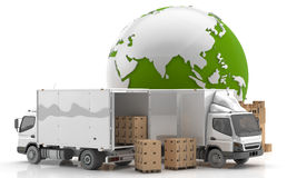 Manufacturing in Asia. Transportation from Asia Royalty Free Stock Photo