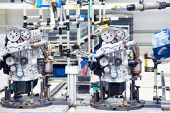 Manufacturing of car engine Royalty Free Stock Photography