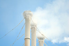 Manufacturing chimney stock photography
