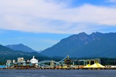 Manufacturing on the Columbia River Royalty Free Stock Images