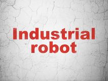 Manufacturing concept: Industrial Robot on wall background Royalty Free Stock Photos