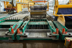 Manufacturing concrete slabs. reinforced concrete production Stock Photography