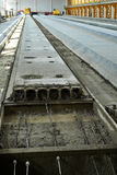 Manufacturing concrete slabs. reinforced concrete production royalty free stock images