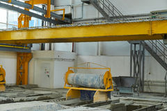 Manufacturing concrete slabs. reinforced concrete production Royalty Free Stock Photo