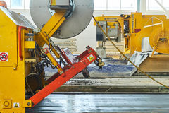 Manufacturing concrete slabs. reinforced concrete production Stock Image