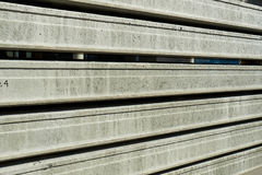 Manufacturing concrete slabs. reinforced concrete production Royalty Free Stock Photography