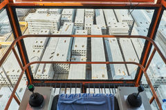 Manufacturing concrete slabs. reinforced concrete production Stock Images