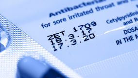Manufacturing date and expiry date. stock photos