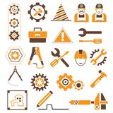 Manufacturing,  engineering icons Stock Images