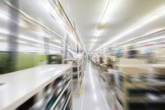 Manufacturing factory blurred Stock Images