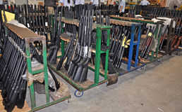 Manufacturing factory about shotguns Stock Image