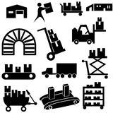 Manufacturing Icon Set royalty free illustration