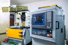 Manufacturing. Image of arc cutting machine Stock Photography